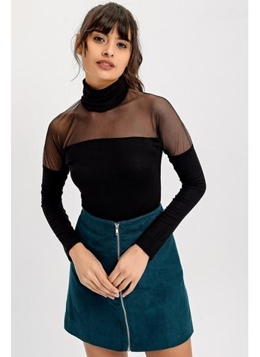 New Laviva Bluz Siyah